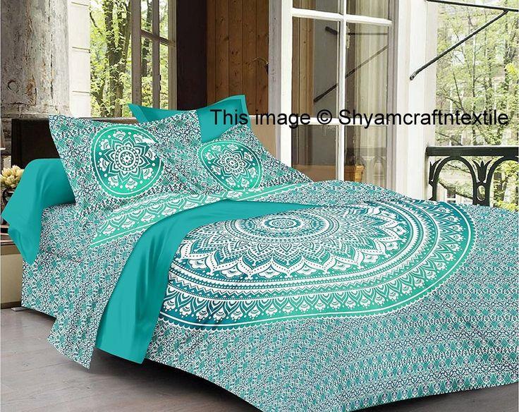 Indian Mandala Quilt Duvet Cover Bedding Double/Queen Size Doona Cover Bed Set