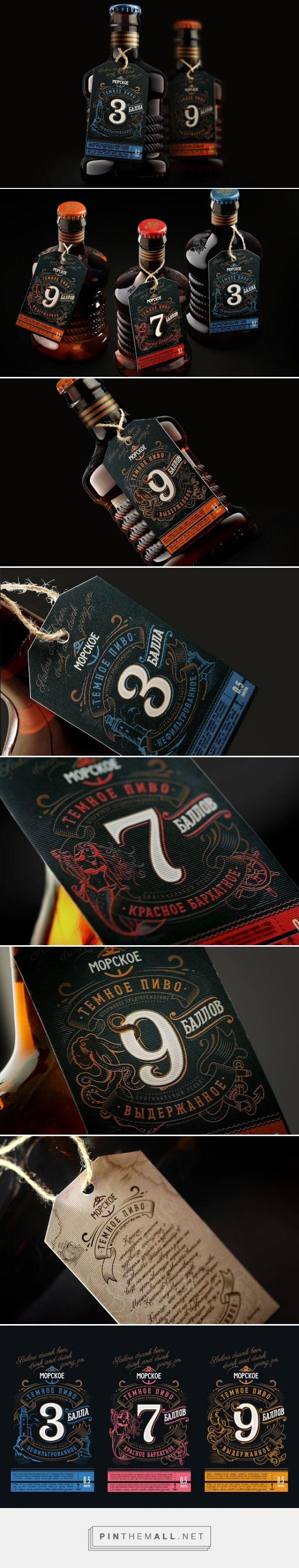 Morskoe Craft Beer Concept packaging designed by UPRISE - http://www.packagingoftheworld.com/2015/12/morskoe-craft-beer-concept.html