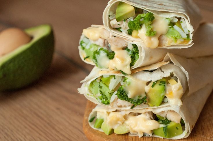 When you're in the mood for a Chipotle-style burrito, try our Healthy Chicken Burrito wraps instead and save yourself the calories and the trip!