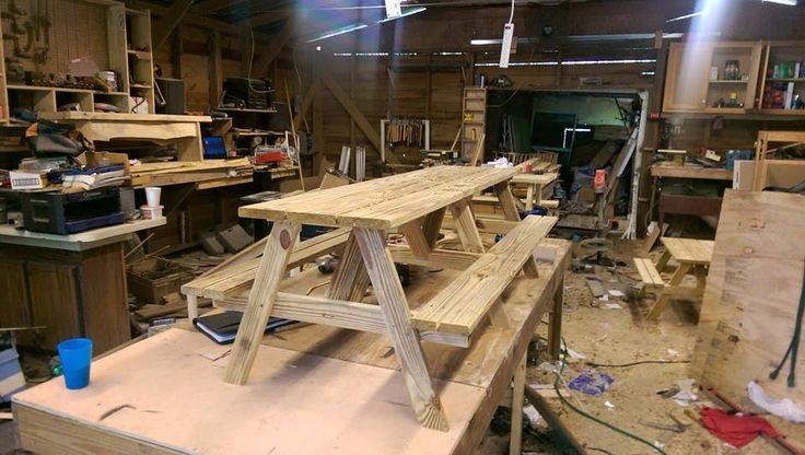 treated 6 foot children's picnic table