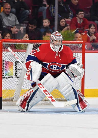 MONTREAL, QC - JANUARY 21: Carey Price #31 of the Montreal Canadiens warms up prior to the NHL game against the Buffalo Sabres at the Bell Centre on January 21, 2017 in Montreal, Quebec, Canada. (Photo by Francois Lacasse/NHLI via Getty Images)