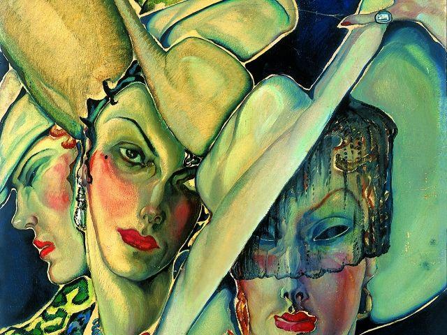 Batthyány Gyula (1887-1959) Kalapos nők / Women with hat - painting - Hungarian art