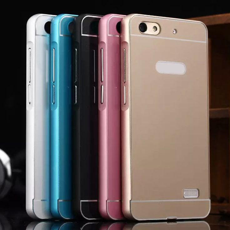 *Luxury Aluminum Metal Bumper + Acrylic Back Case Cover For Huawei Honor 4C*