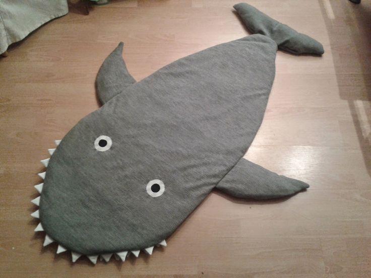 Zottellotte: Haifisch-Schlafsack inkl. Tutorial/making-off - Hai Schlafsack