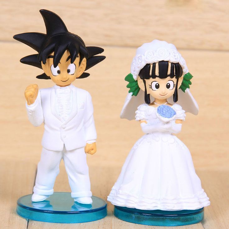 Dragon Ball action figures Goku and Chichi Wedding Series 2pcs/set PVC 8cm higt toys For girls gift Free shipping $20.79   EVERYONE REMIND ME TO GET THIS!!!!!