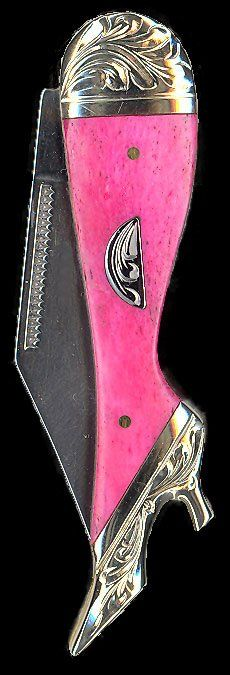 Pocket Knife -Hot Pink Resin Center I got one of these... so cute...