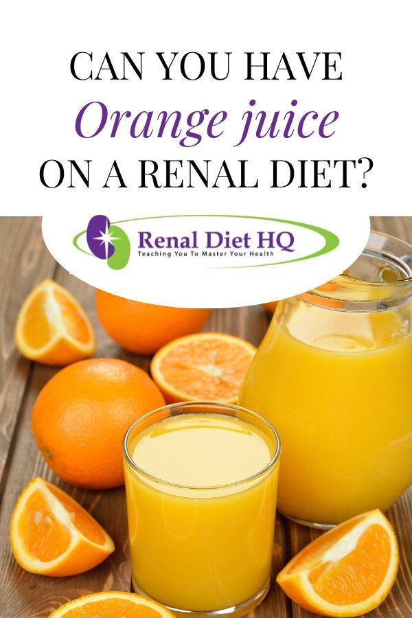 what juices can i drink on renal diet