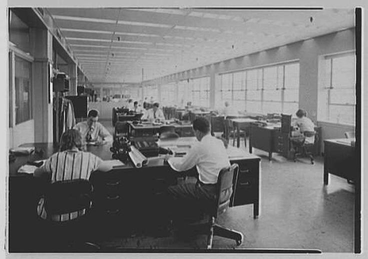 General offices, General Electric turbine plant, 1949, Schenectady, N.Y. (Library of Congress) Photo: Library Of Congress