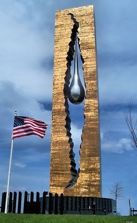Tear Drop Memorial. 9/11 This is really cool I never knew it exsisted. Present from Russia.
