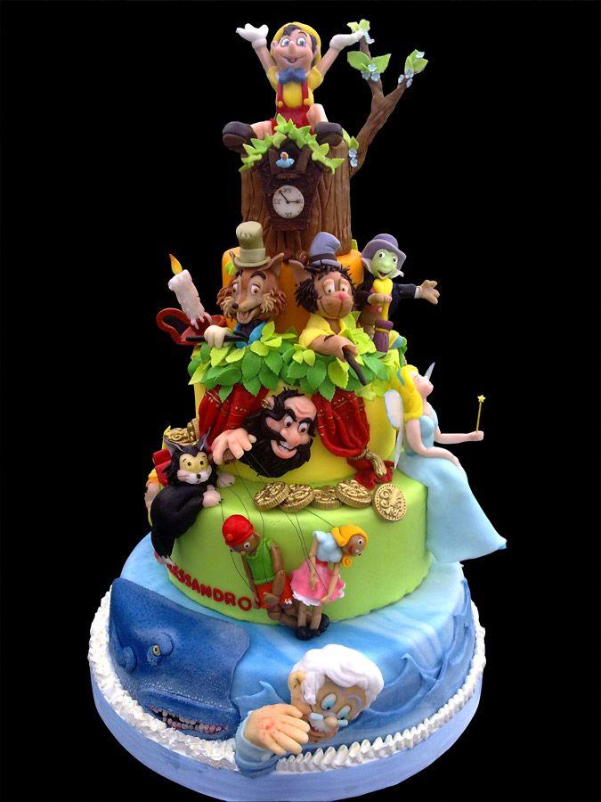 77 best Disneys Pinnochio Cakes images on Pinterest Disney