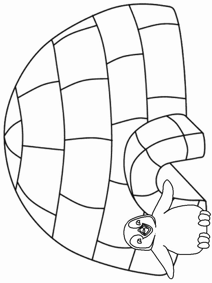 free winter coloring pages winter - Igloo Pictures To Color