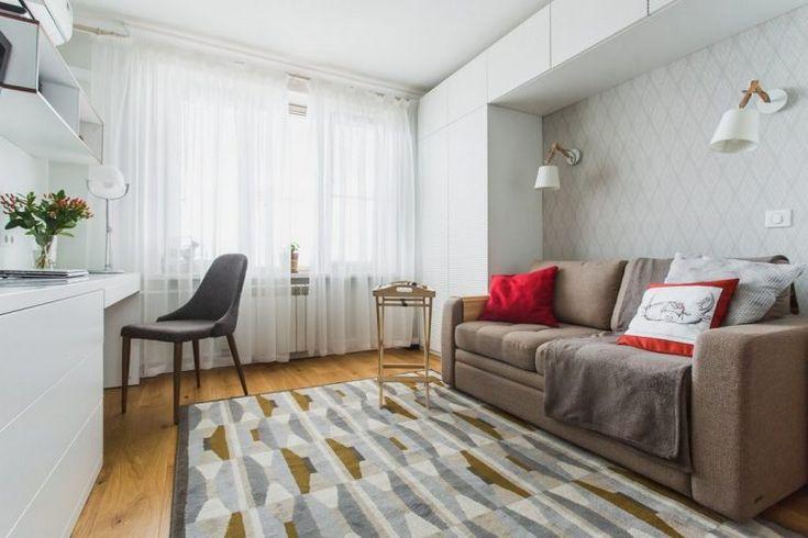 Hogyan rendezz be egy 33m2-es kis lakást - világos dekoráció, praktikus megoldások, a lehetőségekhez mérten tágas elrendezés