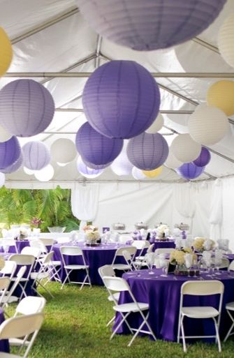 details, homespun, lanterns, purple, shabby chic, yellow, Recessional, diy, decor, decorations, reception, wedding, Jackson, Florida