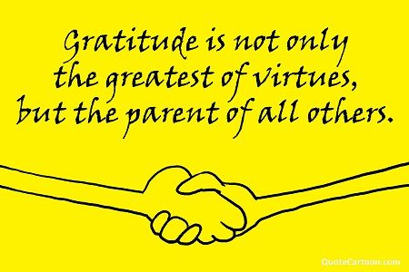 Gratitude is a virtue