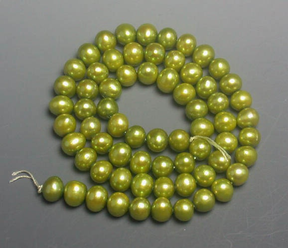 Chartreuse colored necklace