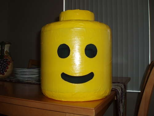 Instructions on how to make Lego costume head