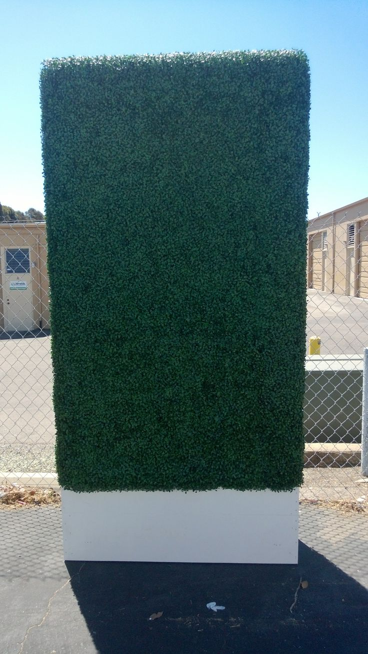 4'x8' Artificial Hedge with white planter. | Amazing ...