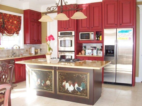 Red Kitchen Decor | Red country kitchen. | Home Decor & Organization