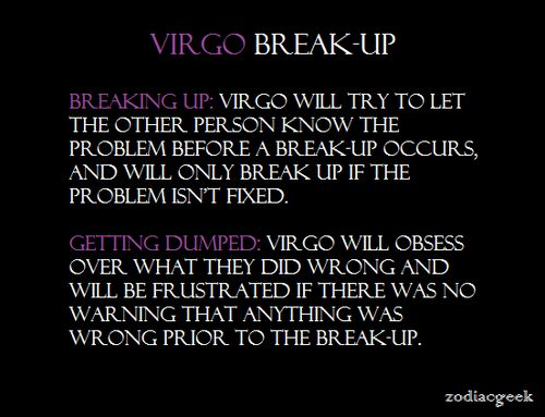 Breaking Up With A Virgo Man