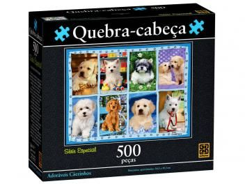 Quebra-Cabeça Adoráveis Cãezinhos 500 Peças - Grow