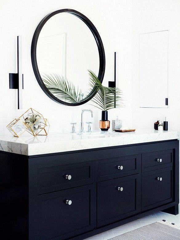 Black Vanity White Marble Circe Mirror West Elm Gold And