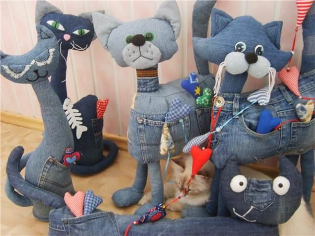 recycle crafts made of old jeans