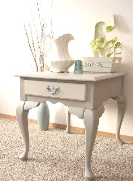 French Linen Table Restyle | Timeless Creations, LLC French style, parlor table, painted wooden furniture, painted table, side table, end table, ornate table, table makeover