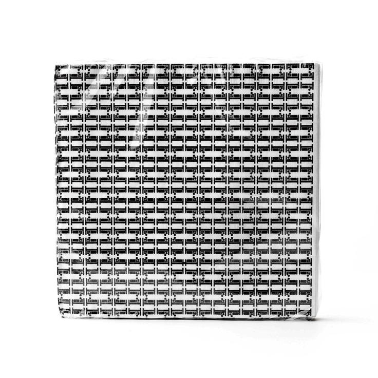 graphic design on napkins