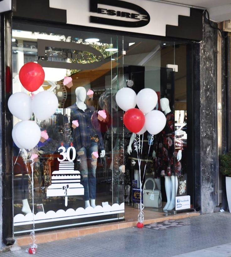 Τριάντα χρόνια κλείνουν τα καταστήματα #desiree και γιορτάζουν τα γενέθλια τους δίνοντας την ευκαιρία σε όλες τις φίλες μας να αποκτήσουν ρούχα με έκπτωση 20% από σήμερα έως και το Σάββατο.  Δε μένει λοιπόν παρά να κάνετε μία επίσκεψη στο κατάστημα Desiree Alexandroupolis και να ντυθείτε με την τελευταία λέξη της μόδας.