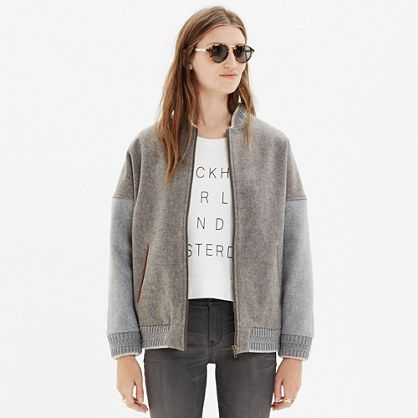 Bomber jacket by sessun | grey wool | French fashion | designer | tomboy style | Emma François www.madewell.com