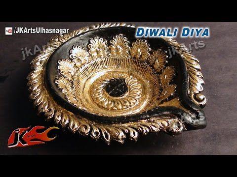 M s de 25 ideas incre bles sobre diwali diya en pinterest for Diya decoration youtube