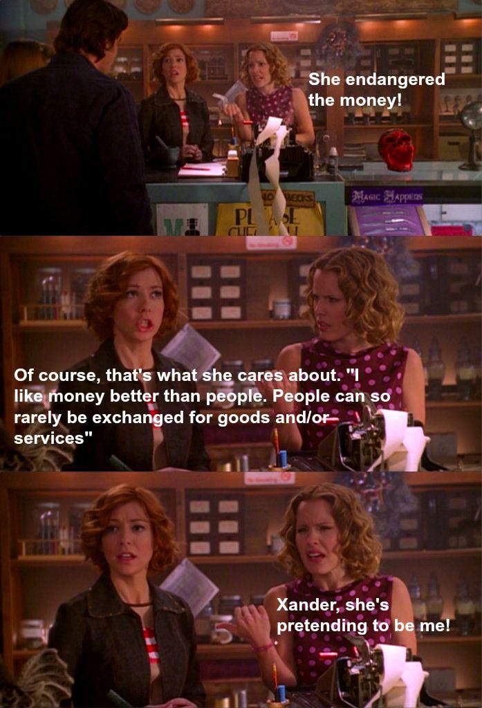 Xander she's pretending to be me! Anya, Triangle, Buffy Season 5