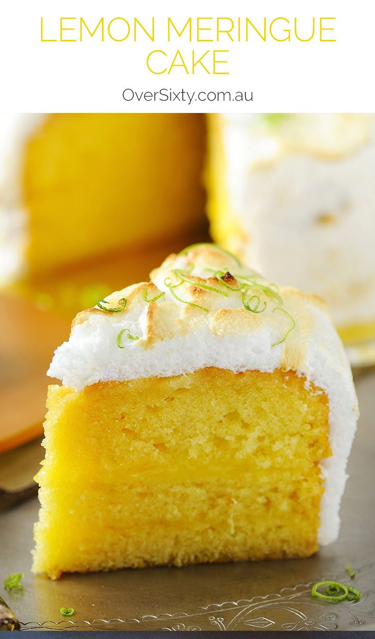 Lemon Meringue Cake - If you liked the pie version you'll love this sweet, creamy and zesty lemon meringue cake dessert.