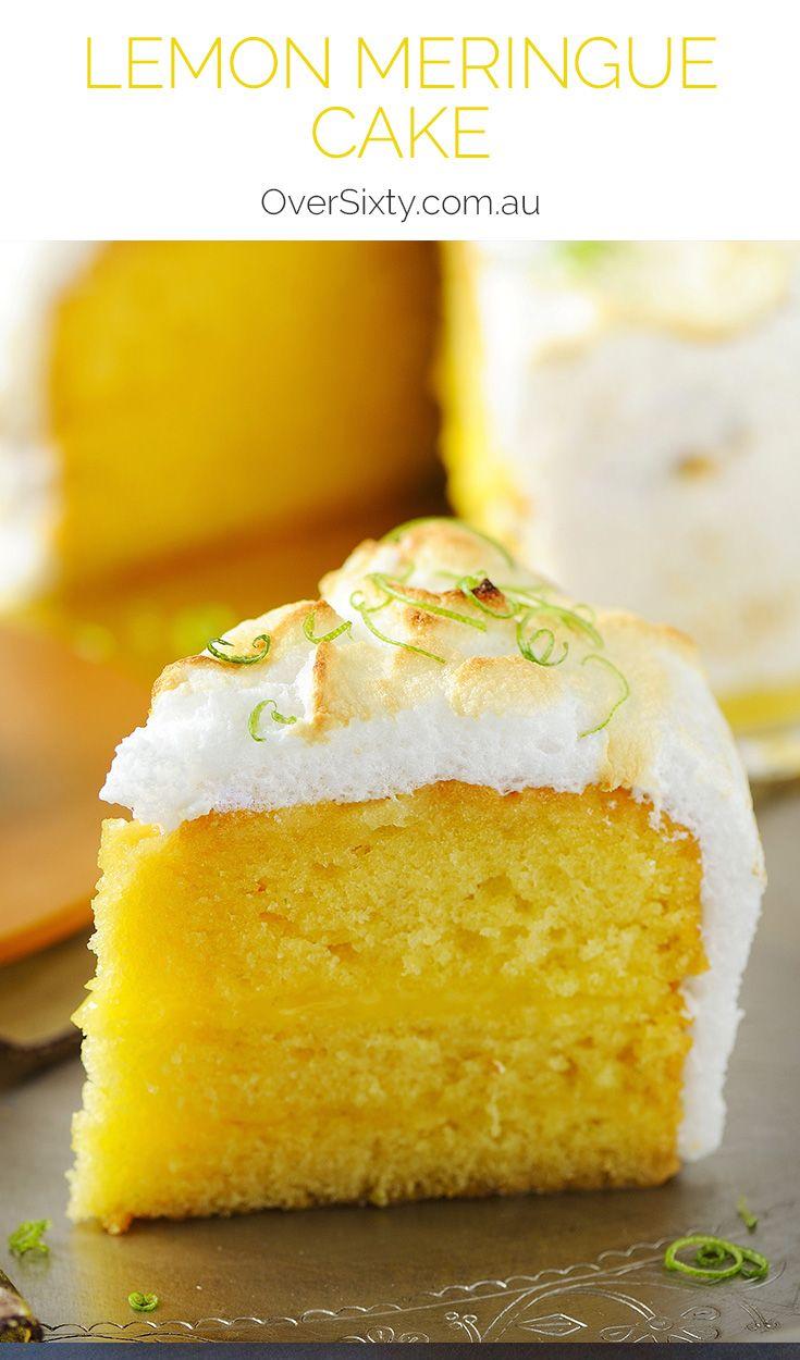 Lemon Meringue Cake - If you liked the pie version you'll love this sweet, creamy and zesty lemon meringue cake dessert.
