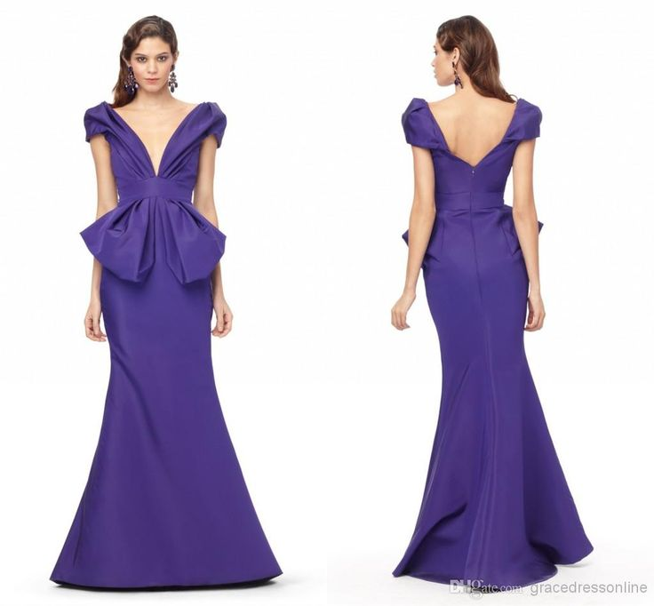 Wholesale Evening Dresses - Buy 2014 Sexy Formal Evening Dresses Backless Deep V-Neck Runway Fashion Red Carpet Dress Short Sleeve Backless Trumpet Gowns Sexy Mermaid Gown, $78.0 | DHgate