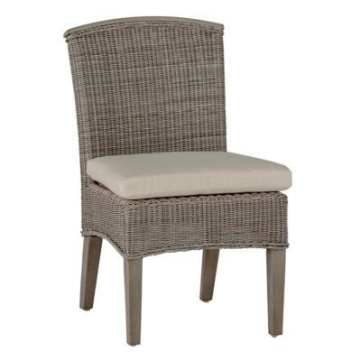 Summer Classics Astoria Patio Dining Chair with Cushion Color: Tropical Silhouette Midnight
