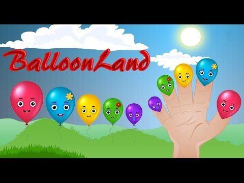 Finger Family Song of Balloon Land || Finger Family Nursery Rhymes for Kids