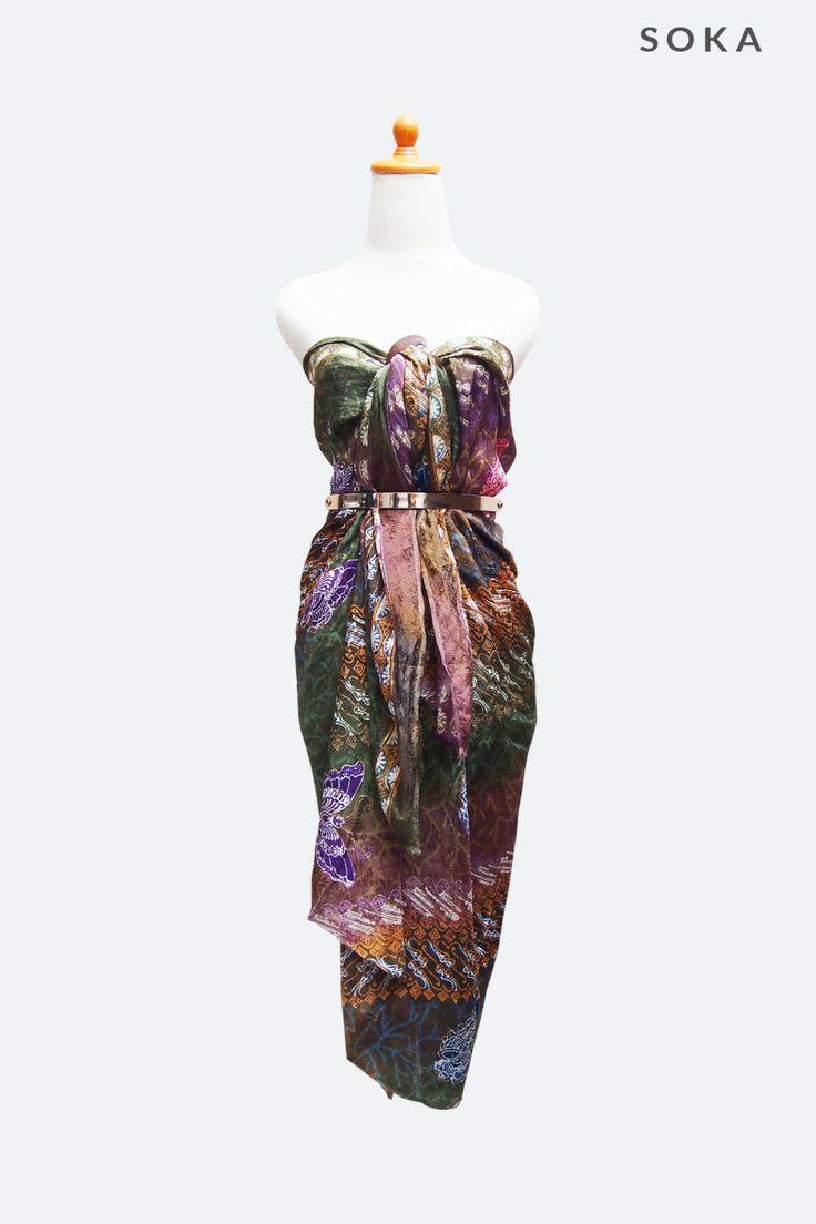 Multicolor Batik Sarong or sarongs wrap for beach day