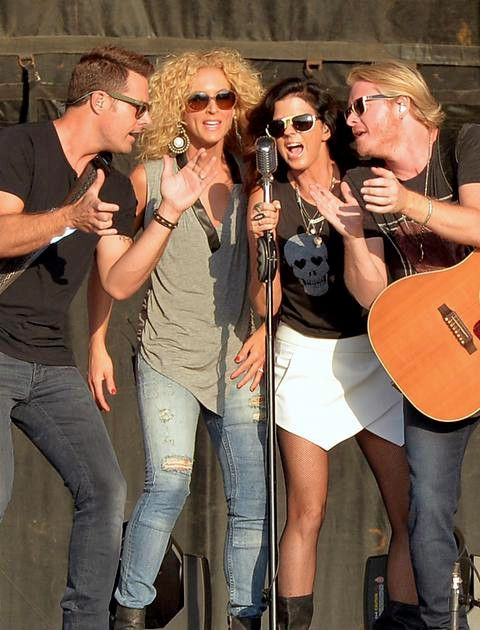 Little Big Town. Because how many current country groups have four vocalists who are actually good and sing around a single mic.