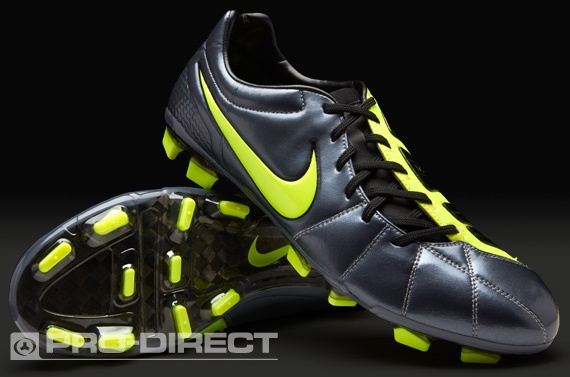 Nike Football Boots - Nike Total 90 Laser Elite FG - Firm Ground - Soccer Cleats - Metallic Blue Dusk-Volt-Black