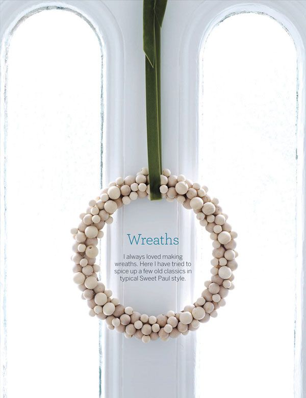 Wreath with wooden balls. Who knew?