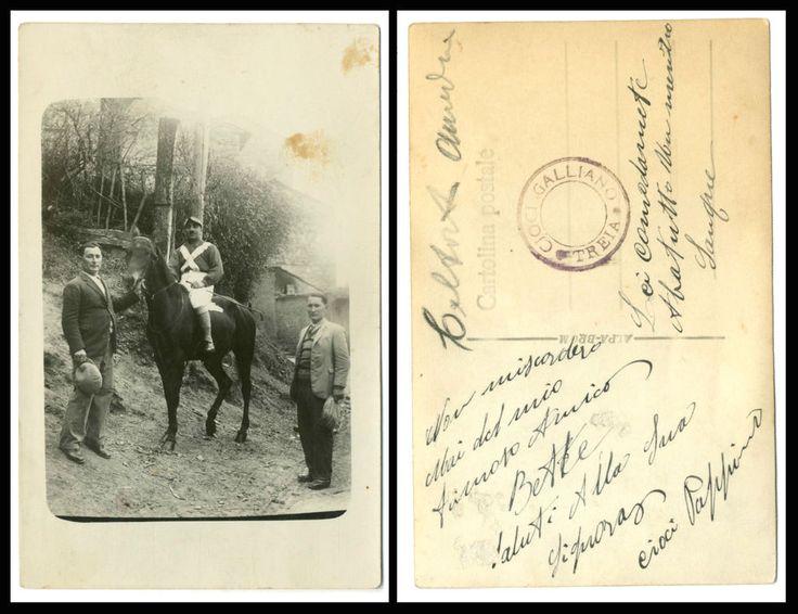 IL FANTINO ED IL CAVALLO-ANIMALI-VECCHIA FOTO D EPOCA/OLD PHOTO-ANNI 20 CIRCA