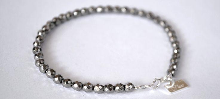 Kamień półszlachetny-hematyt, srebro 925