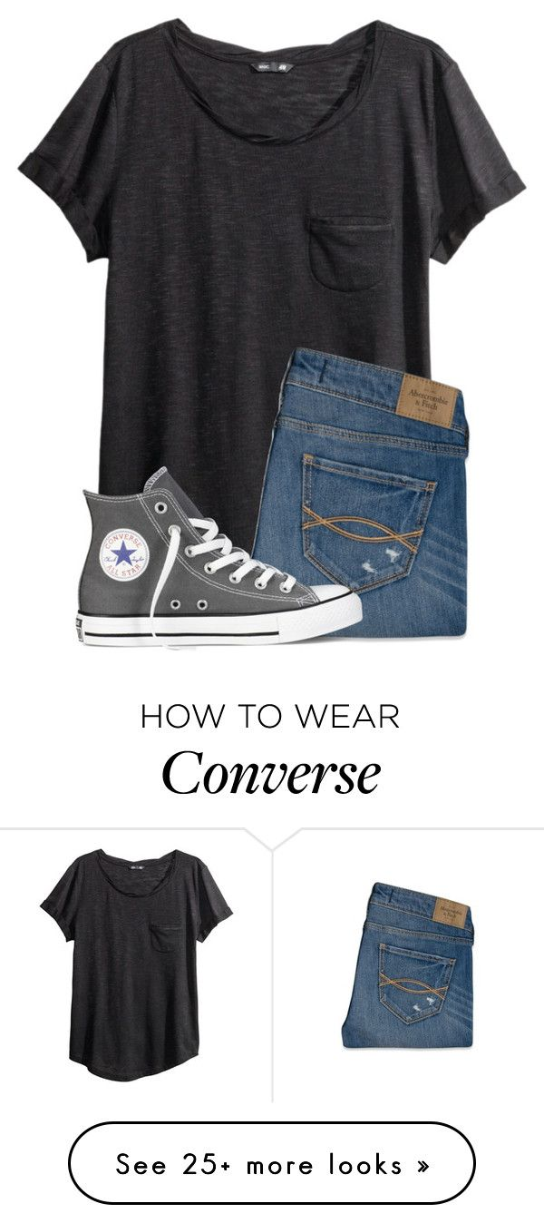 """""""Casual Outfit"""" by twaayy on Polyvore featuring H&M, Abercrombie & Fitch and Converse"""