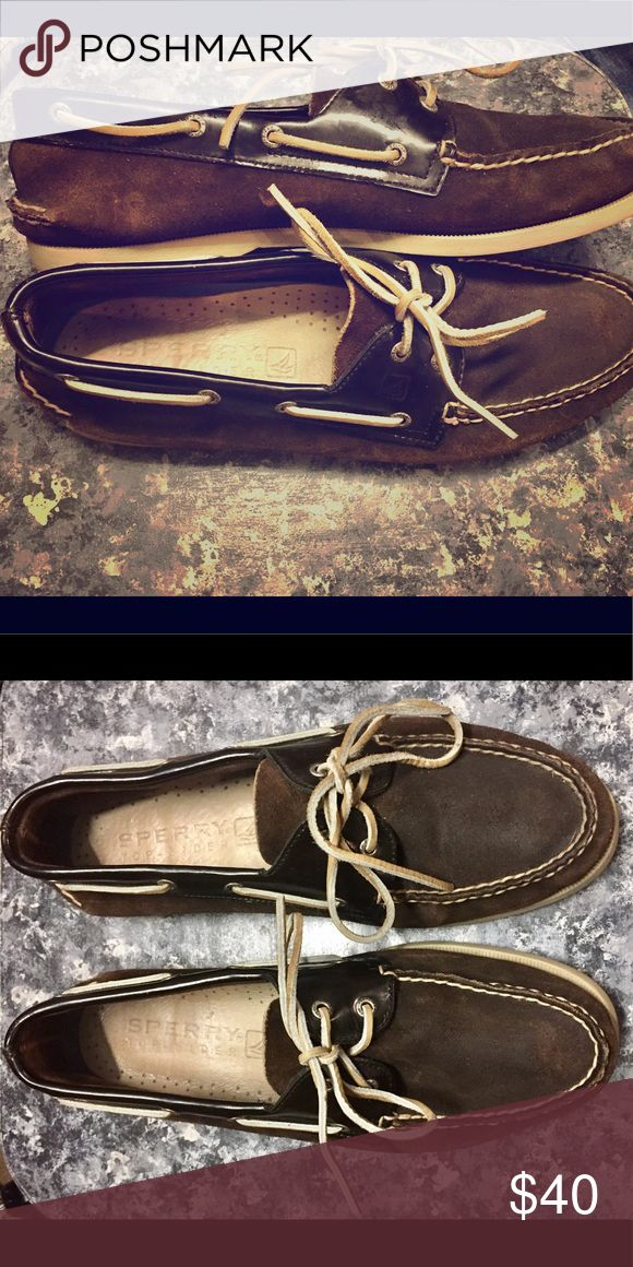 Sperry top sider Mens brown sperry top sider! Left foot is size 13 and right is 12 Sperry Top-Sider Shoes Boat Shoes