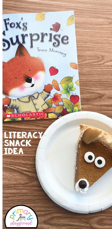 Literacy Snack Idea Fox + Free Printable
