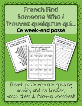 Looking for a way to get your students speaking in the pass compos? Here's a fun…