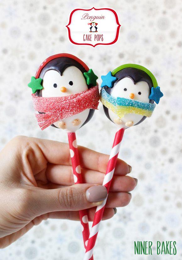 {Tutorial} How to make winter Penguin Cake Pops - by niner bakes