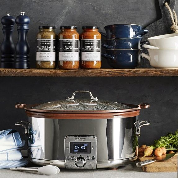 All-Clad Gourmet Slow Cooker with All-in-One Browning | Williams-Sonoma I can see where my Christmas bonus is going!