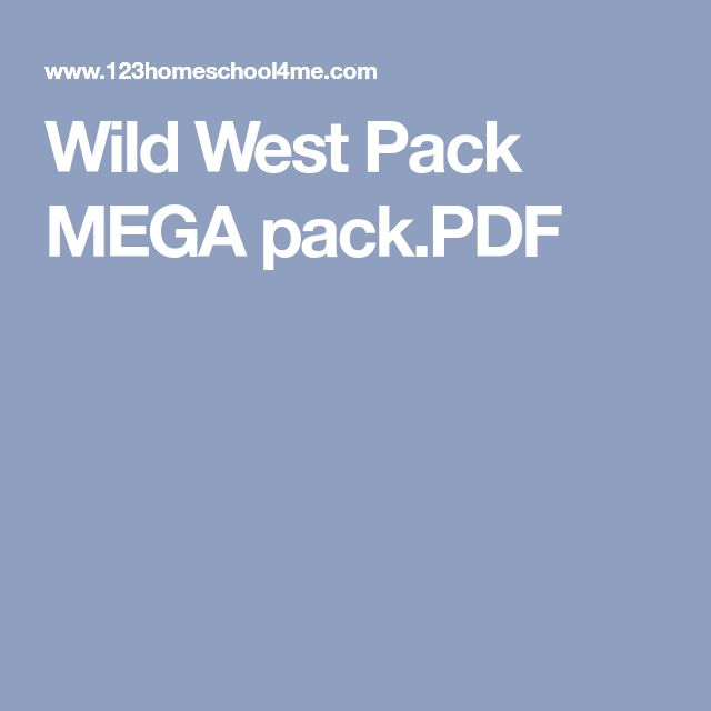Wild West Pack MEGA pack.PDF